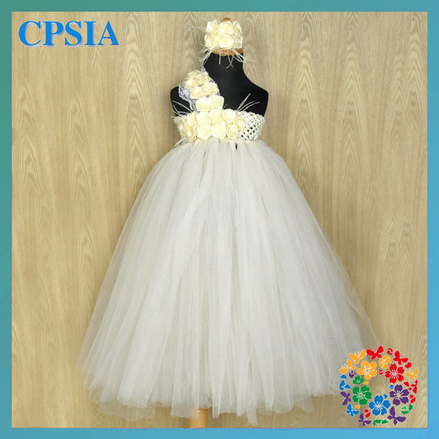 f11d6bb05 Hot ! In Stock Ivory Tutu Dresses For Toddlers Latest Girls Maxi ...