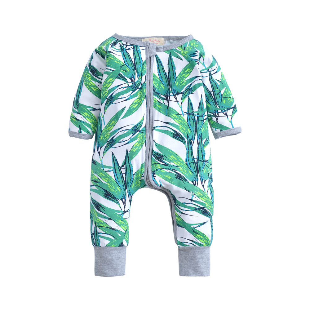 Newborn Infant Baby Boy Kid Clothing Long sleeves Romper Bamboo Cute Zipper Jumpsuit Outfits Baby Boys Clothes 2017 new adorable summer games infant newborn baby boy girl romper jumpsuit outfits clothes clothing