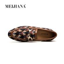MeiJiaNa 2018 Fashion Comfortable Casual Shoes Loafers Men Shoes Quality Split Leather Shoes Men Flats Hot Sale Banquet Shoes