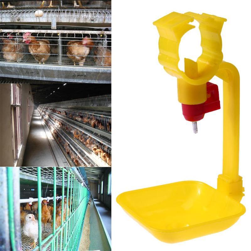 10 Uds. bebedores piezas automáticos agua de pollo proveedor de agua de alimentación de aves de corral bebedero de pollo pezón de agua tazas para beber