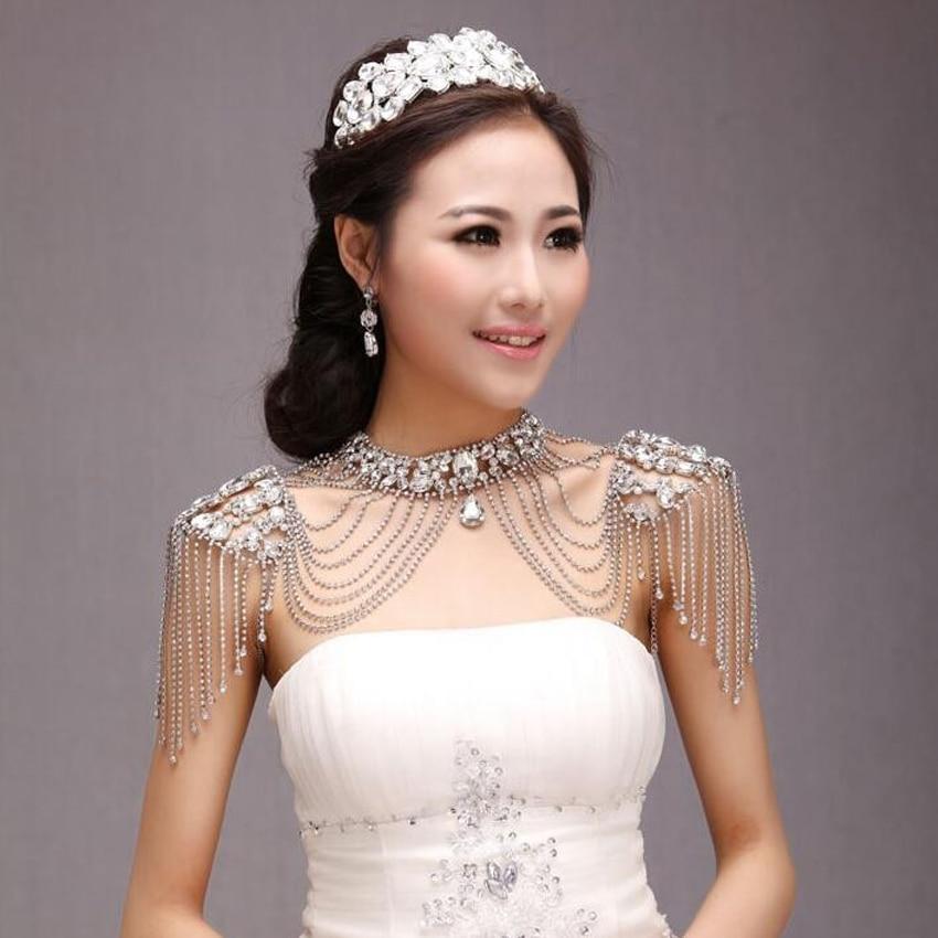 New Fashion Bride Jewelry Vintage Wedding Accessories Gold