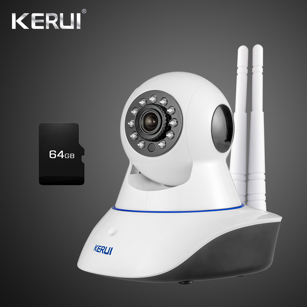 WiFi IP Camera ISO Android APP Remote Control Home Alarm System Security HD CCTV Night Vision with Wireless Smoke Detector