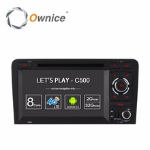 Android6.0 1024*600 Quad Core Car DVD Player of Ownice C500 GPS For A3 2002-2011 With Wifi GPS radio 2GB RAM 16GB ROM support 4G