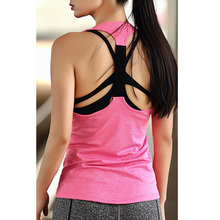 Comfortable Women Yoga Top Gym Sports Sleeveless T Backless Shirts Sport Fitness Running Clothes Singlets