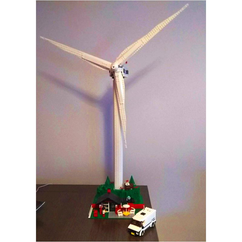 LEPIN 37001 Creative Series 873pcs The Vestas Windmill Turbine Building Block Bricks set Toys For children legoing 4999 lepin 37001 creative series the vestas windmill turbine set children educational building blocks bricks toys model for gift 4999