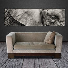 Art picture canvas painting wall picture art prints elephant on canvas and posters no frame wall home decoration art(China)