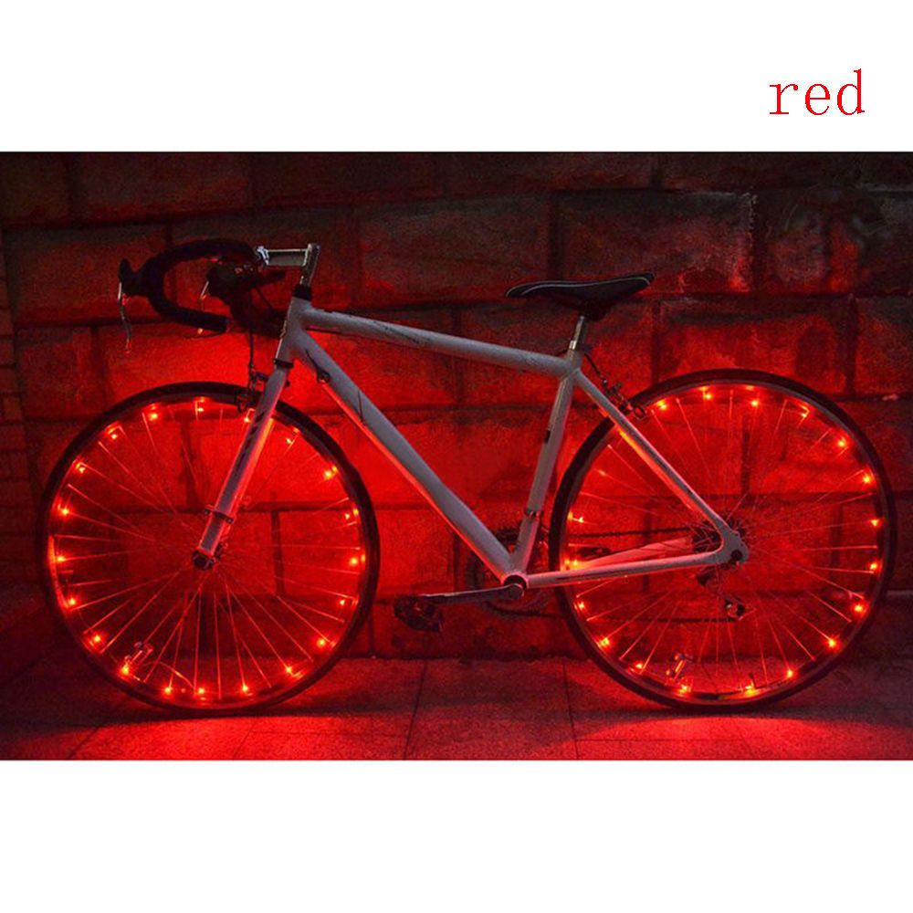 20 LED Cycling Bicycle Bike Rim Lights LED Wheel Spoke Light String Strip LampSG