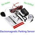 New Electromagnetic Black Auto Car Parking Sensor Car Detector Reversing Reverse Backup Radar With Buzzer Alarm No Drill No Hole
