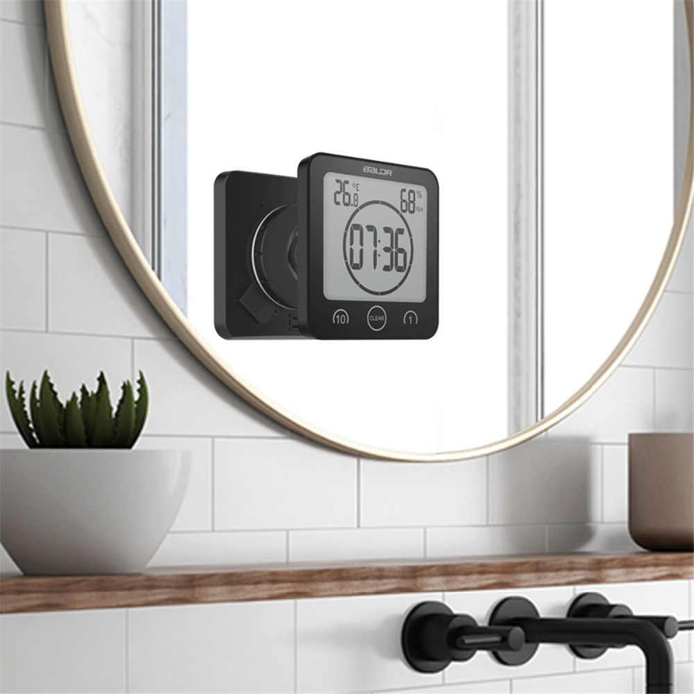 LCD cyfrowy wodoodporny do rozprysków wody łazienka zegar ścienny zegary prysznicowe zegar temperatura wilgotność kuchnia Wash Room Timers
