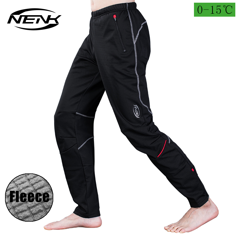 NENK Men's Pants Windproof Cycling Fleece Thermal Winter Pants Trousers Running Hiking Outdoor Multi Sports Active Pants Warm outdoor sports winter thermal fleece warm ski hat earmuffs cycling cap windproof hiking riding snow cap men women knitted hat