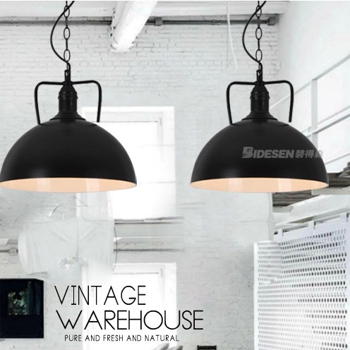 American Country White/Black Hanging Lamps Vintage Industrial Pendant  Lights Fixture Home Dining Room Restaurant