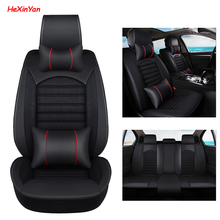 HeXinYan Universal Car Seat Covers for Jaguar all models F-PACE XJL XF XFL XE XJ6 XK car styling auto accessories front rear special leather car seat covers for jaguar all models xf xe xj f pace f type brand firm soft auto accessories