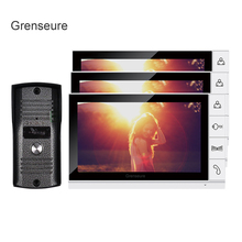 FREE SHIPPING Home Security 9″ TFT LCD Color Video Intercom Door phone System 3 Screens + Night Vision Outdoor Camera WHOLESALE