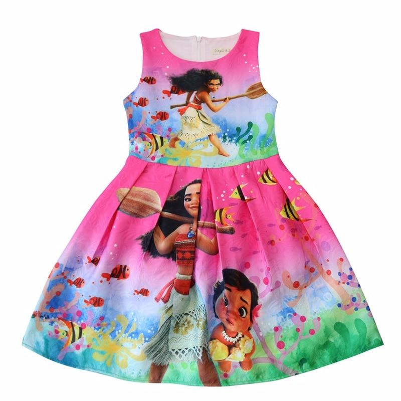 2018 Moana suministros de fiesta Vaiana vestidos de disfraces Cosplay vestido de cumpleaños ropa de bebé niña vestido infantil bata bebes fille