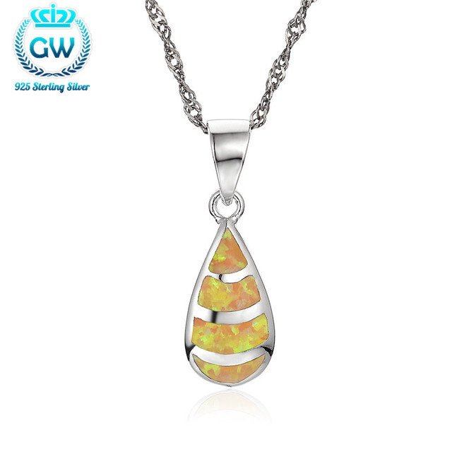 Aliexpress buy sterling silver jewelry water drop opal sterling silver jewelry water drop opal pendants best gift for friends brand gw jewellery aloadofball Image collections