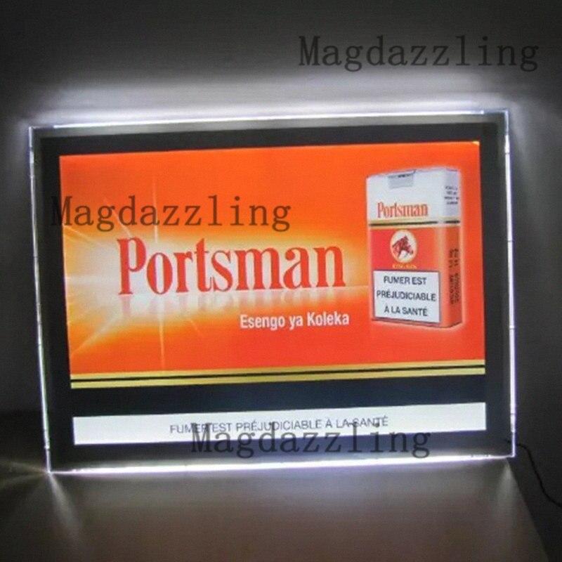 A2 Schlank Werbung Led licht boxen, Wand Befestigte Acryl rahmen Led ...