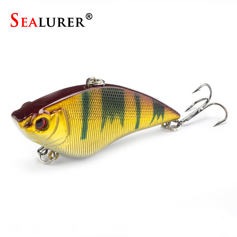 7cm 16g Hard Fishing Lure VIB Rattlin Hook Fishing Sinking Vibra Rattlin Hooktion Lures Crank Baits