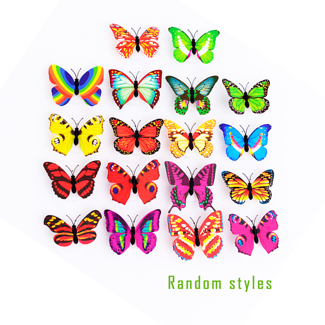 1pcs Lovely Creative Colorful Butterfly LED Night Light Beautiful Home Bedroom Decorative Wall Night Lights Color