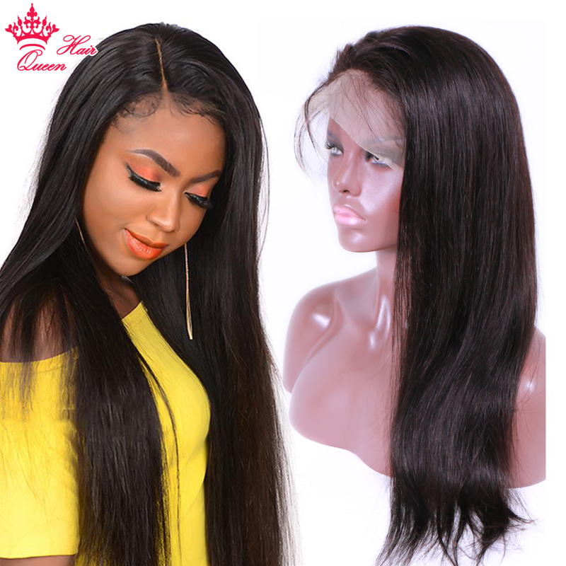 Queen Hair Full Lace Wig Remy Hair 100 Human Straight Hair Wigs 12 to 22 Natural