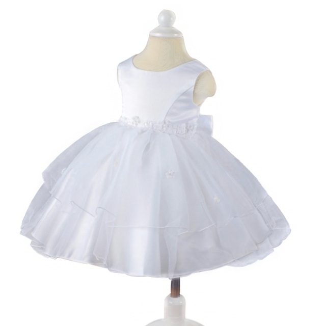 2018 New Baby Girl Dresses Toddler White and Ivory Tulle Newborn ...