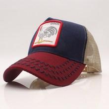 Seioum Summer Animal Baseball Cap Embroidery Mesh Cap Hats For Men Women Snapback Gorras Hombre hat Casual Hip Hop Cap цены