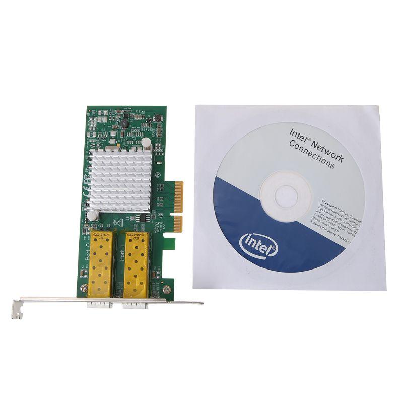 Intel I350 puce PCI Express double Port Gigabit Ethernet carte adaptateur réseau Fiber optique serveur