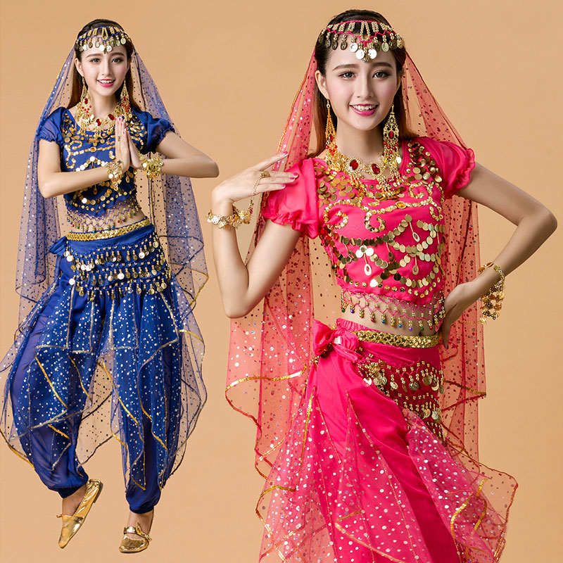 d09dbdf9e Go shopping for best price 4pcs Woman Belly Dance Costume Stage Performance  Belly Dancing Bollywood Bellydance Costume Stage & Dance Wear for Women.