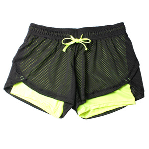 Image 5 - 2018 летние двухслойные шорты, женские обтягивающие фитнес шорты женщины эластичные повседневные шорты женские Joggings pantalones cortos mujer