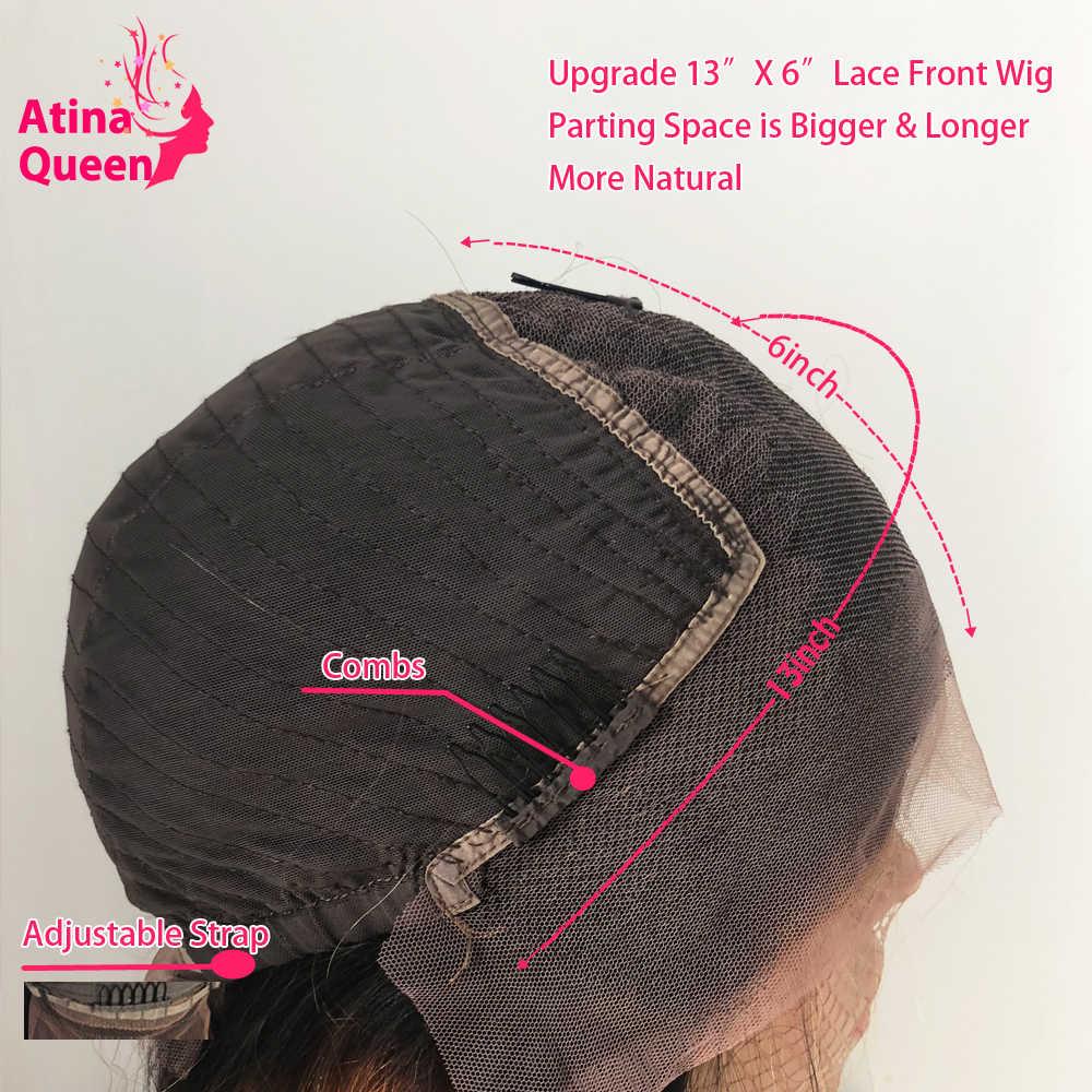 Peluca de pelo humano rizado Afro mongol parte profunda 13X6 pelucas frontales de encaje negro Natural para mujeres negras pelo de bebé Pre desplumado