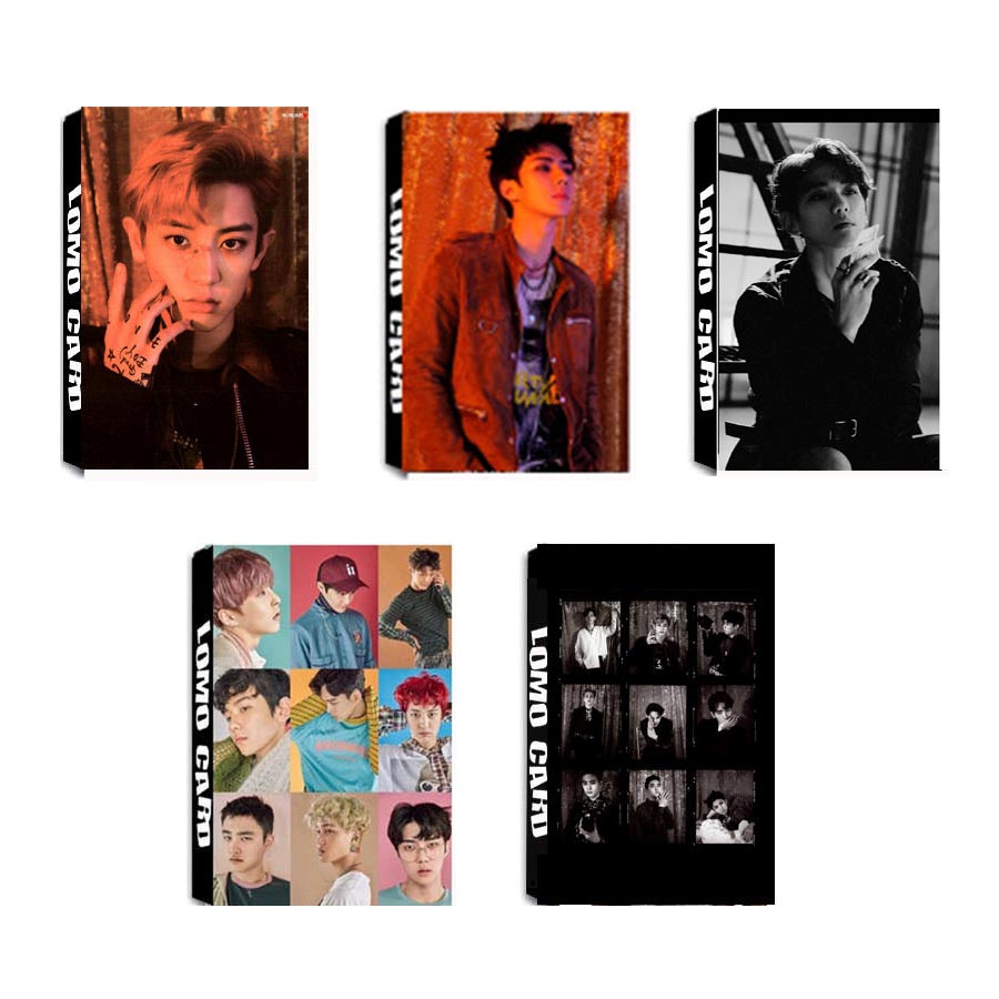 Jewelry Findings & Components Youpop Kpop Fan Exo K M Exact Exact Monster Lucky Album Lomo Cards K-pop New Fashion Self Made Paper Photo Card Lk313 Quality And Quantity Assured Beads & Jewelry Making