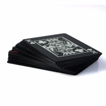 Waterproof Plastic Black Playing Cards