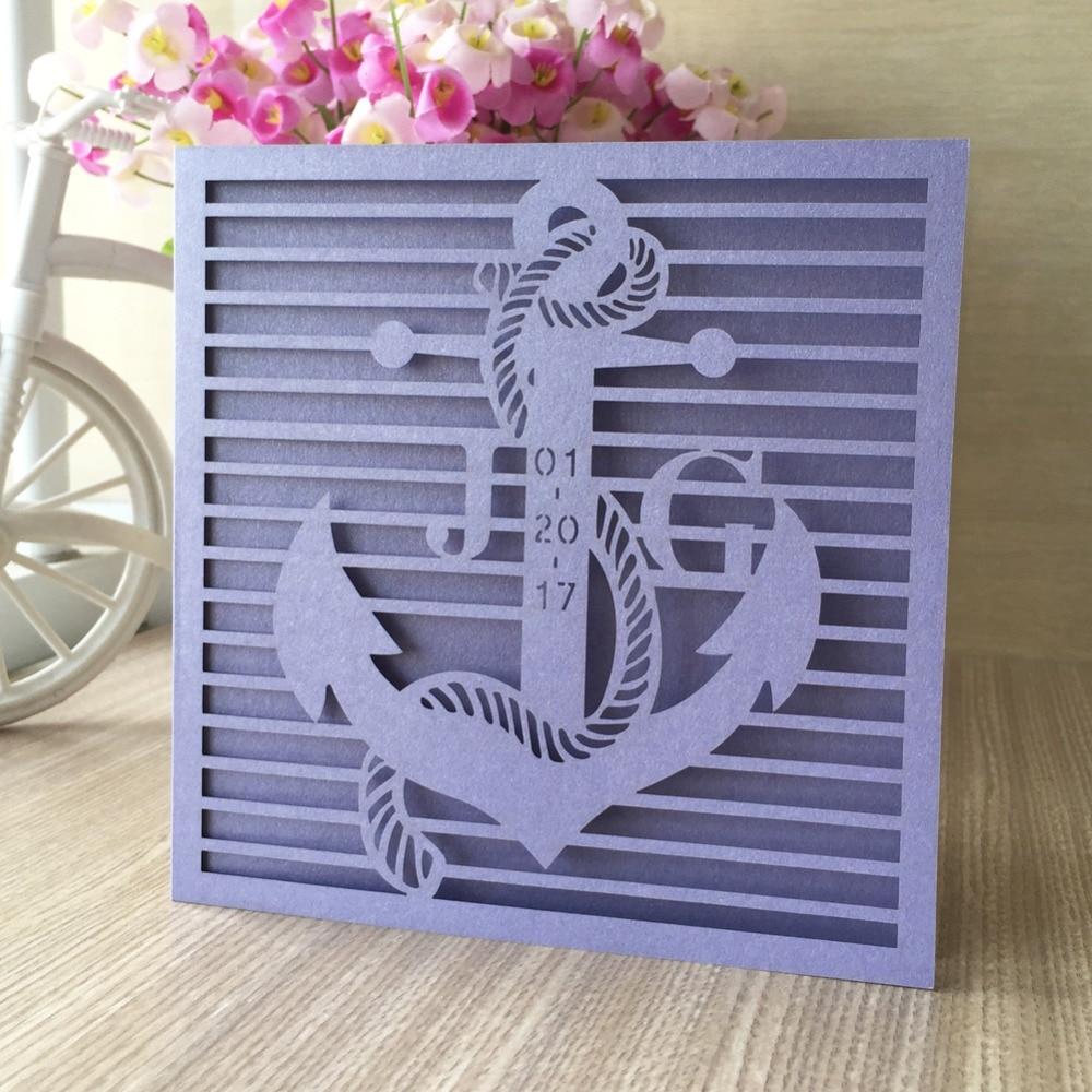 12pcs Free Fast Shipping Seaman Design Laser Cut Wedding