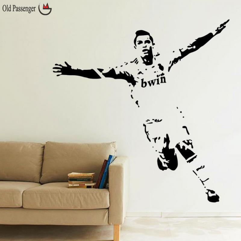 Old passenger home decor wall stickers pvc vinyl for Cristiano ronaldo wall mural