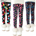 Plus Velvet Girl Kids Winter Pants Thickening Girls Leggings Cartoon For 24M-10Years Warm Girls' Trousers Children's Clothing