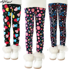Plus Velvet Girl Kids Winter Pants Thickening Girls Leggings Cartoon For 24M-10Years