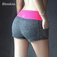 7dc29b024d Blesskiss suave Yoga pantalones cortos de deporte para las mujeres gimnasio  ropa de verano 2019 Spandex