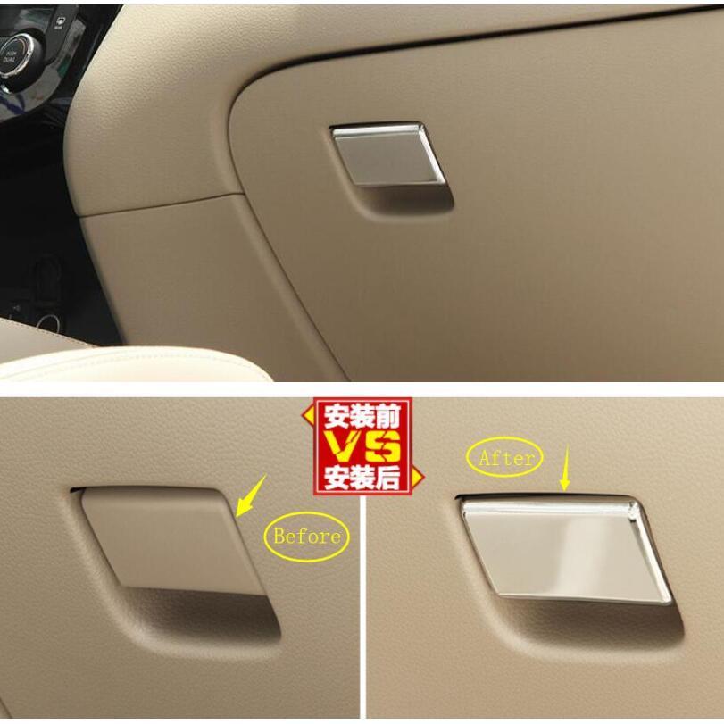 Copilot Glove Storage Box Handle Sequins Cover Trim For Nissan Qashqai 2014-2018