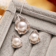 Pearl pendant Jewelry Sets for Women Pearl Necklace/Earring Wedding Jewelry Set