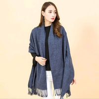 New Arrival Novelty Autumn 100 Cashmere Scarf Women 2017 Fringe Shawl Wrap Blanket Poncho Ukraine Female