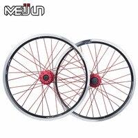 MEIJUN small wheel folding bicycle wheels 20 inch aluminum alloy quick release 406 V brake disc wheel hub