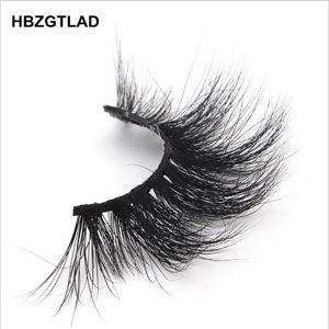 Image 3 - HBZGTLAD 100% rzęsy z norek extra length 22 25mm rzęsy 3D rzęsy duże dramatyczne volumn rzęsy Crisscross sztuczne rzęsy L95