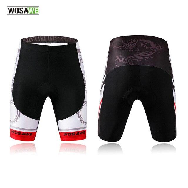 18a7e26bca WOSAWE Homens Originais do esporte Ao Ar Livre Ciclismo Shorts Equitação Da  Bicicleta 4D Gel Acolchoado