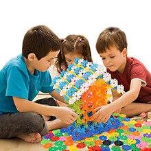 300 pcs blocos de construção do floco de neve montagem tijolos do brinquedo do bebê crianças brinquedo educativo diy caçoa o presente brinquedos clássicos atacado
