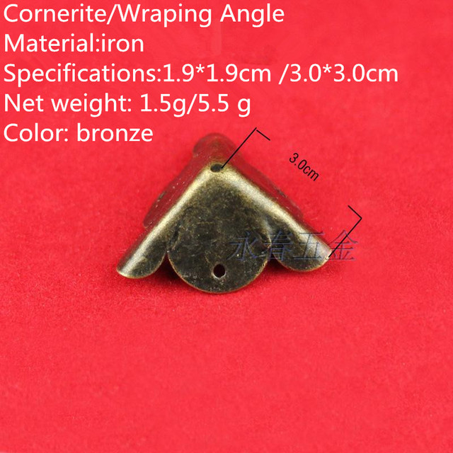 Corner wrap angle antique furniture hardware wooden gift box with DIY  jewelry accessories wholesale furniture foot - Corner Wrap Angle Antique Furniture Hardware Wooden Gift Box With