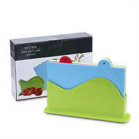 1 Set Large 30 X 20 CM Kitchen Chopping Blocks Rectangle Colored PP Plastic Chopping Cutting Boards Kitchen Accessories Supplies