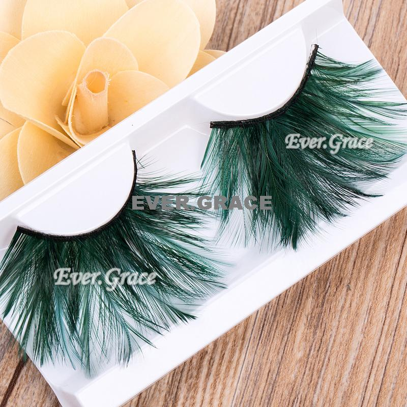 Fancy Long False Feather Eyelashes Makeup Eye Lashes Party Extension Cosmetics