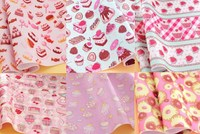 Khá mềm mại bánh kẹo 6 designs 30x20 cm diy felt vải polyester cảm thấy vải gói pre-cut không dệt kim đấm