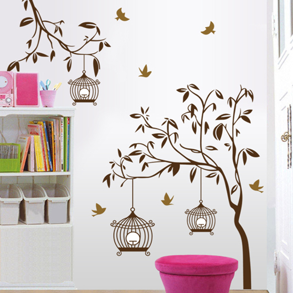 Birdcage pegatinas de pared compra lotes baratos de for Stickers pared baratos