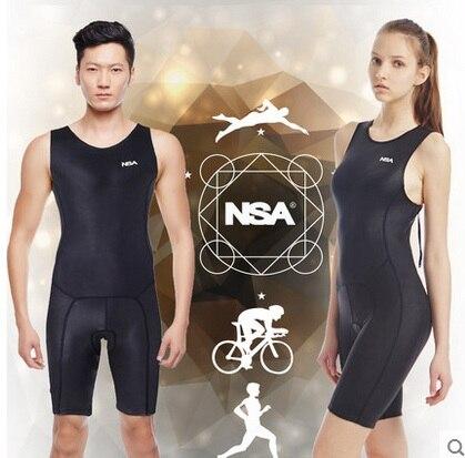 Marque sport hommes OnePiece minceur maillot de bain femmes professionnel Triathlon Sexy noir dos nu maillot de bain en tissu de course