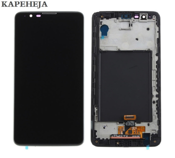 цена на 5.7For LG Stylus 2 K520 LS775 LCD Display Touch Screen Digitizer Assembly with Bezel Frame